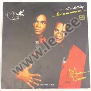 Milli Vanilli - ALL OR NOTHING. VSE ILI NITŠEGO - (A60 00693 003) - 1988 (1990) (LP)
